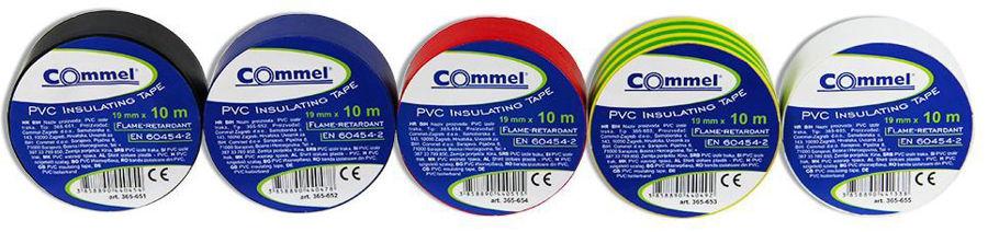 Slika COMMEL Izolir traka 19mm x 10m, ž/z 365-653
