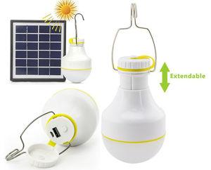 Slika COMMEL Solarna LED svjetiljka 401-710; 2W s power bankom 2200 mAh, 2 razine osvjetljenja, IP54