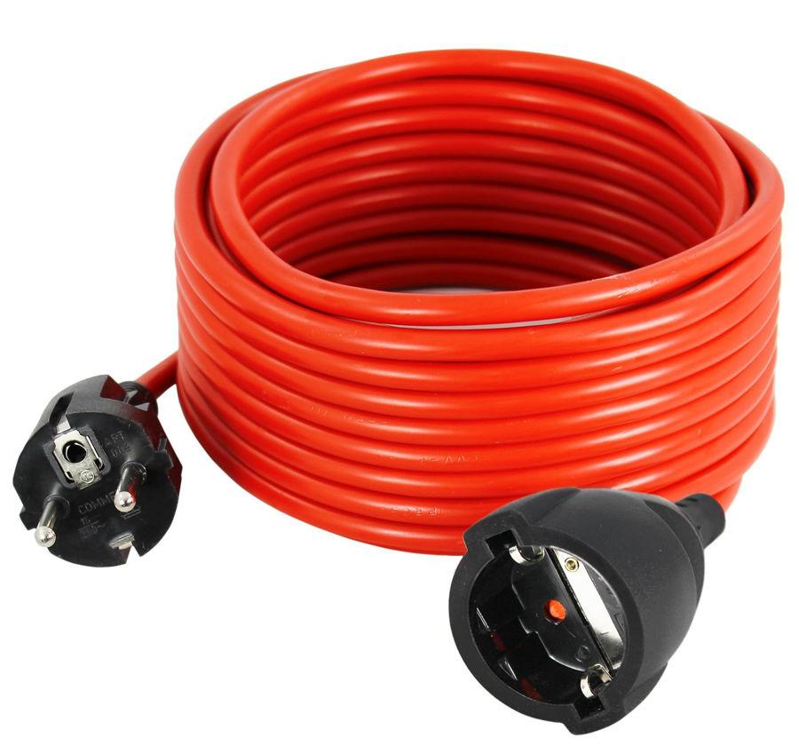 Slika COMMEL Produžni kabel - šuko H05VV-F 3G1 10 A L=10m, 220-110 crveni