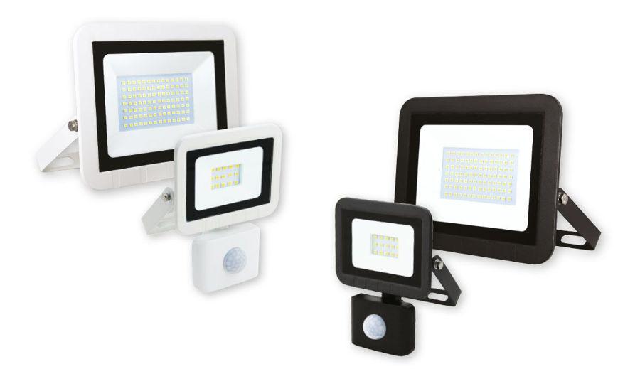 Slika COMMEL LED reflektor 100W 306-198, 6500 K (hladno bijela boja svjetla) - 7000 lm-IP65 bijeli