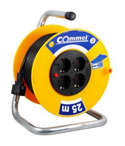 Slika COMMEL Kabelska motalica na PVC bubnju H05VV-F 3G1,5 L=25m, 0955 monofazna