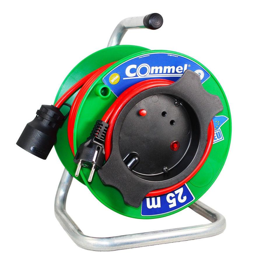 Slika COMMEL Kabelska motalica na PVC bubnju H05VV-F 3G1,5 L=25m,0991 za vrtne alate monofazna