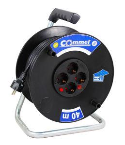 Slika COMMEL Kabelska motalica na PVC bubnju H05VV-F 3G2,5 L=40m, 0961 monofazna