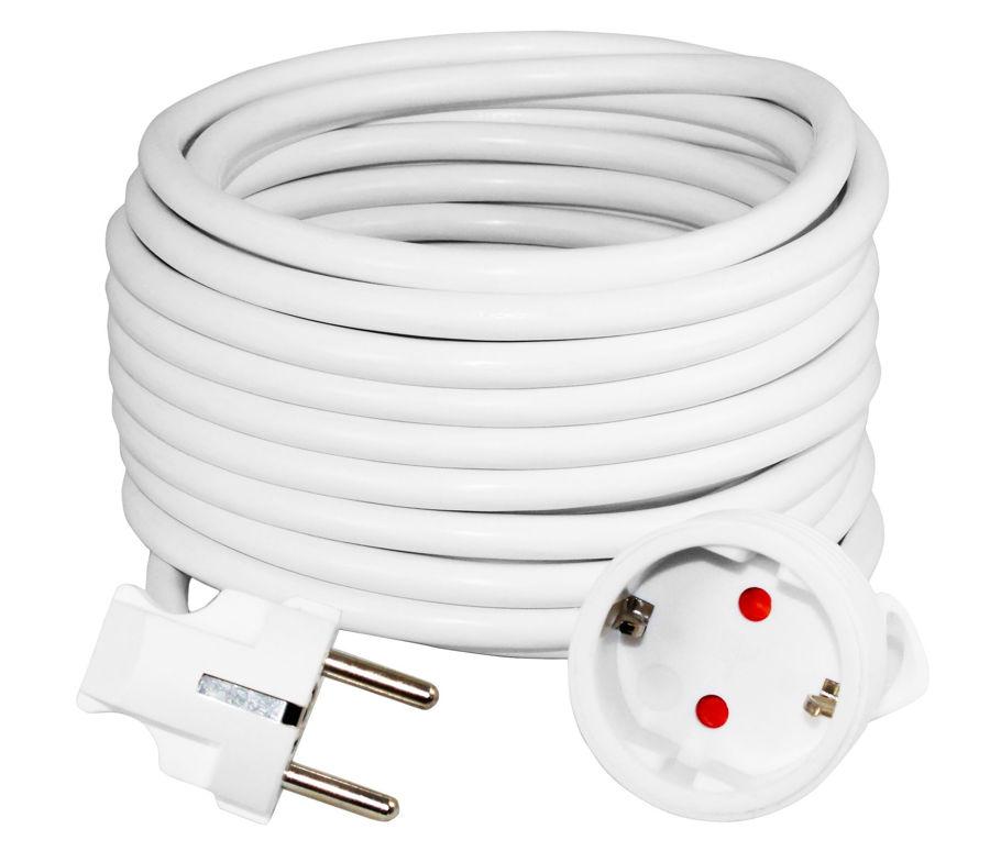 Slika COMMEL Produžni kabel - šuko H05VV-F 3G1,5 L=8,0,220-508 bijeli