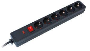 Slika COMMEL Utičnica 6-struka s prenaponskom zaštitom L=1,5m, 380-105