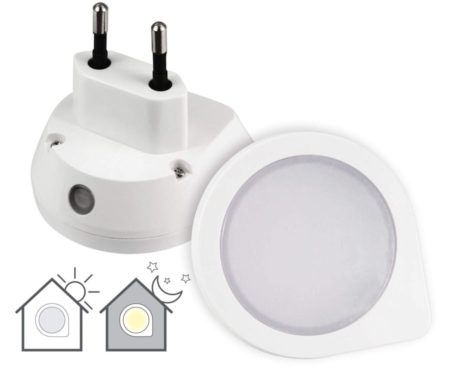 Slika COMMEL LED noćno svjetlo390-201, ugrađeni fotosenzor, 0.4 W, 220-240 V~