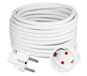 Slika COMMEL Produžni kabel - šuko H05VV-F 3G1,5 L=4m,220-504 bijeli
