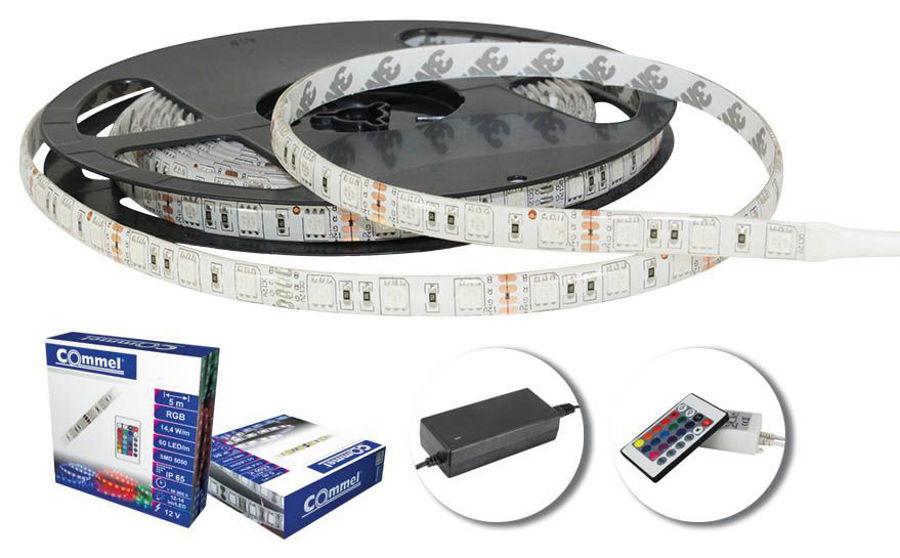 Slika COMMEL LED traka 60 LED/m, RGB, IP65 - 5 m, 405-205