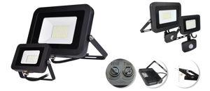 Slika COMMEL LED REFLEKTOR SMD 100W 306-295, 8000 lm, 6500 K, CRNI