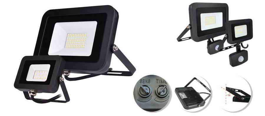 Slika COMMEL LED REFLEKTOR SA SENZOROM 10W 307-215, 800 lm, 6500 K, CRNI