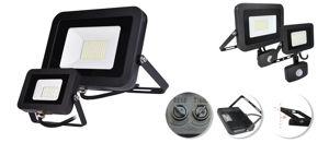 Slika COMMEL LED REFLEKTOR SA SENZOROM 50W 307-255,4000 lm, 6500 K, CRNI