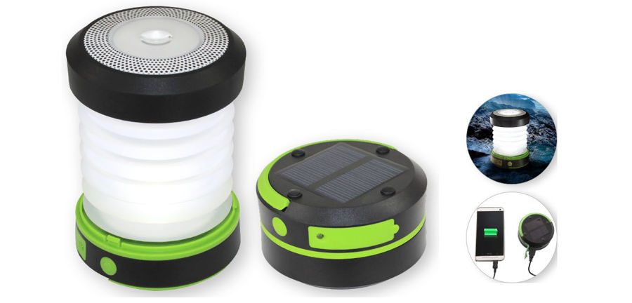 Slika COMMEL Solarna Led svjetiljka 401-712,2 razine osvjetljenja + SOS svjetlo,10, power bank, Lithiu