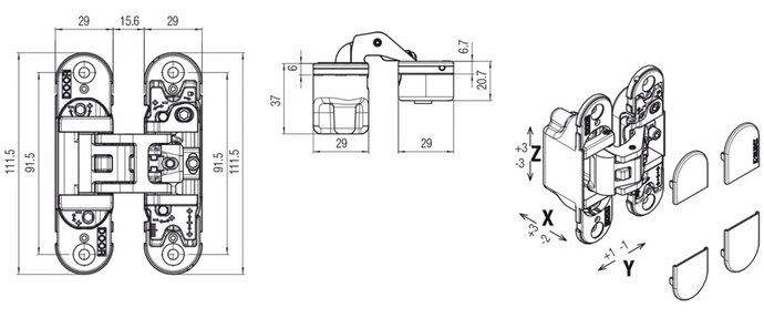 Slika BAGLAMA KUBICA 6700 crom mat DX/SX