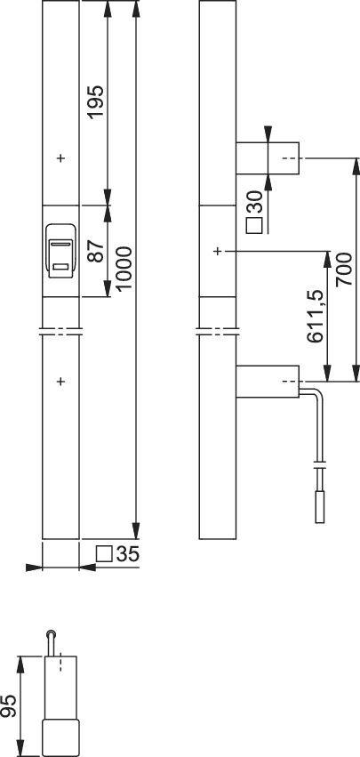 Slika RUKOHVAT sa skenerom prsta E5766AV F69 inox