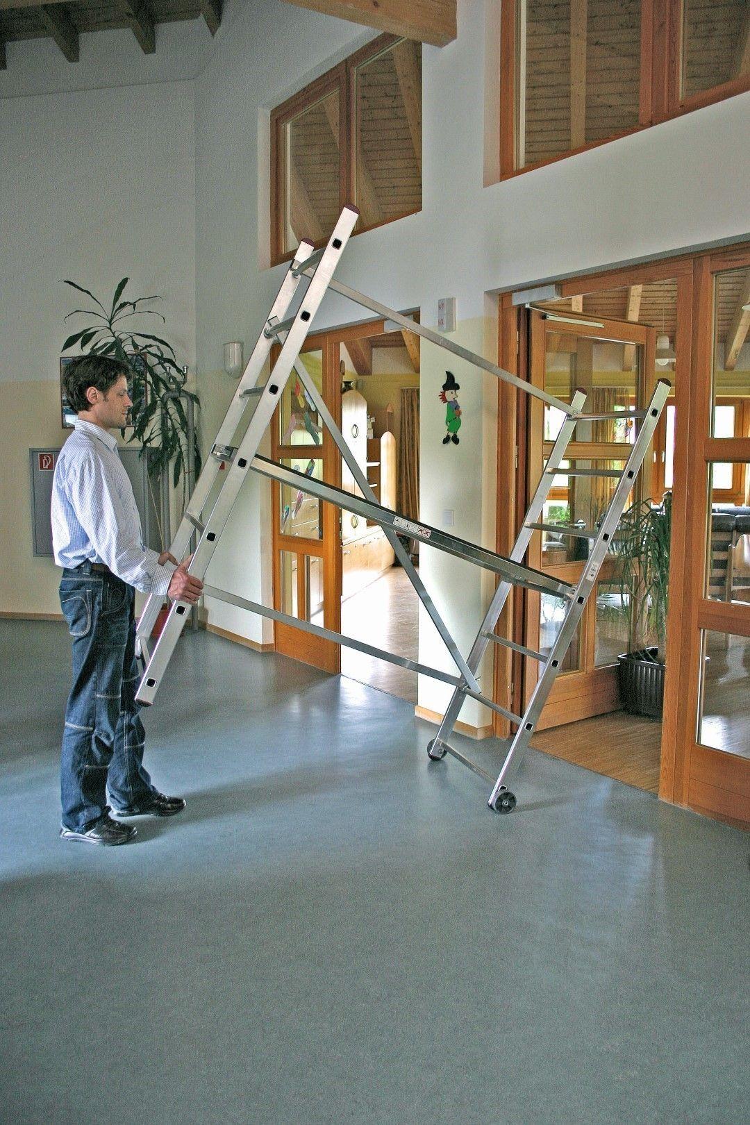 Slika KRAUSE CORDA SKELA POKRETNA RADNA VISINA 3,00m NOSIVOST 150 kg