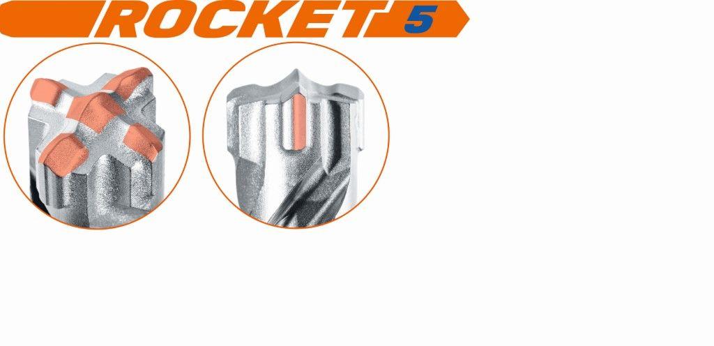Slika BORER Rocket 5 SDS-plus 22x520 mm 4 kraka