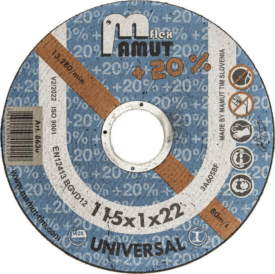 Slika REZNA PLOČA UNIVERZAL 115X3X22 MAMUT
